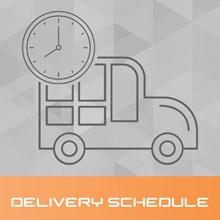 تصویر جدول زمانبندی ارسال کالا
