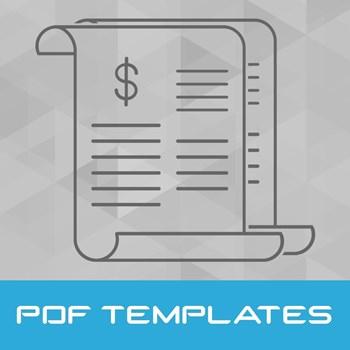 تصویر قالب های فاکتور (PDF)